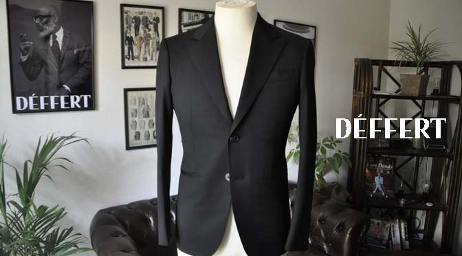 お客様のスーツの紹介-Biellesi ブラックスーツ-