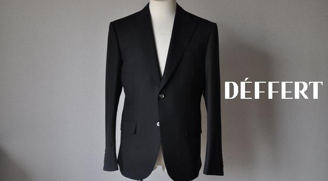 お客様のスーツの紹介-ブラックヘリンボーン –