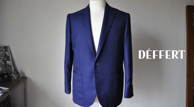 お客様のジャケットの紹介-CANONICO ネイビーホップサックジャケット-