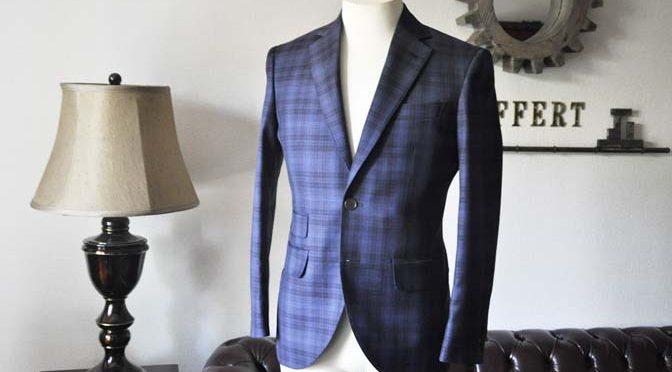 お客様のスーツの紹介- Canonico ネイビーチェックスーツ-