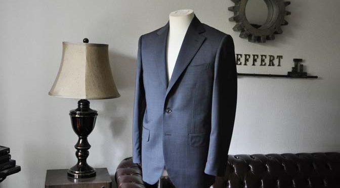 お客様のスーツの紹介- Biellesi ネイビーグレー-