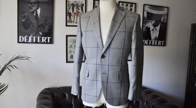 お客様のスーツの紹介- Biellesi グレーチェックスーツ-