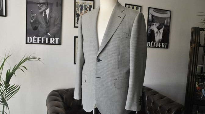 お客様のジャケットの紹介-千鳥格子シングルジャケット-