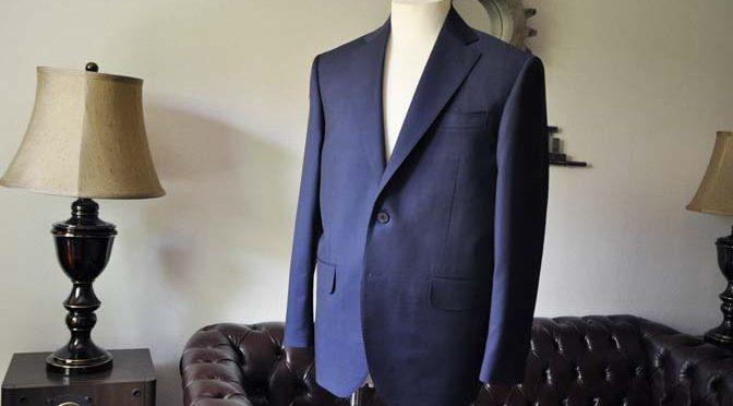 お客様のスーツの紹介- Canonico 無地ネイビースーツ-