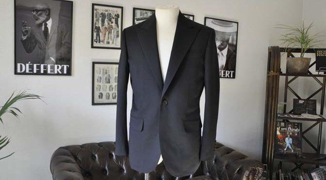 お客様のスーツの紹介- Biellesi ブラックスーツ-