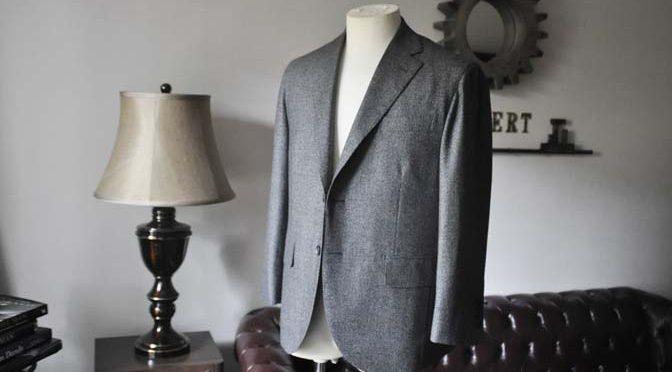 お客様のジャケットの紹介- Loro Piana Dream Tweed グレージャケット-