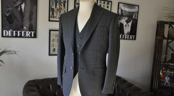 お客様のスーツの紹介- Biellesi グレーバーズアイ-
