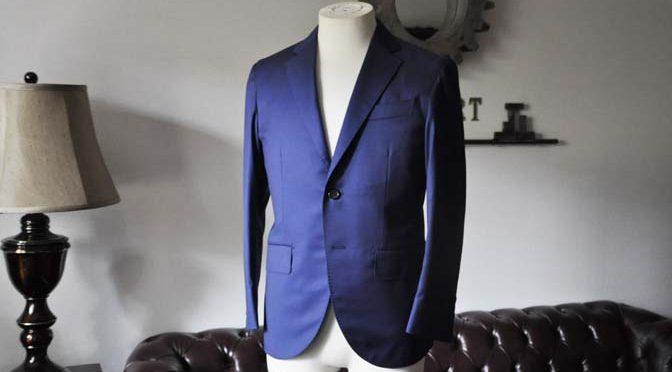 お客様のスーツの紹介- Biellesi 無地ネイビースーツ-