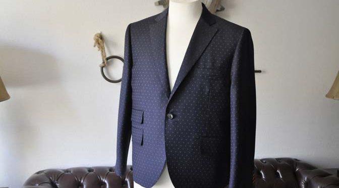 お客様のスーツの紹介- Canonico ネイビースーツ-