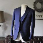お客様のスーツの紹介- Biellesi ネイビーチェックスリーピース-