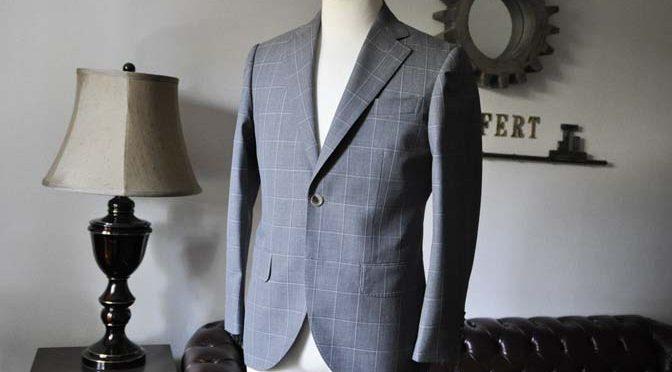 お客様のスーツの紹介- DARROW DALE グレーウィンドペン-