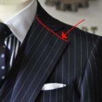 スーツのパーツ名称 「ゴージライン」