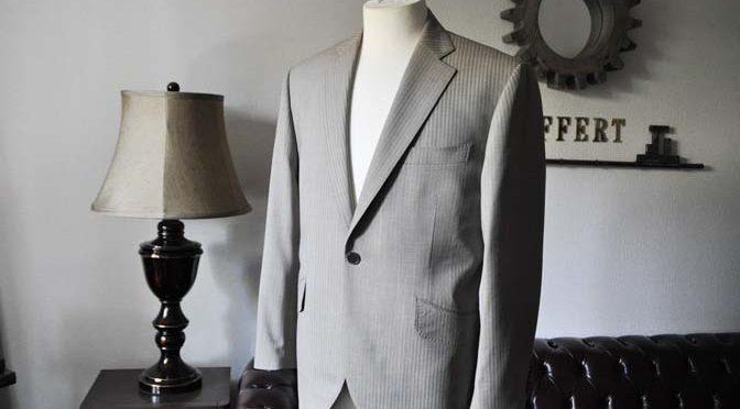 お客様のスーツの紹介- Biellesi ライトブラウンヘリンボーンスーツ-
