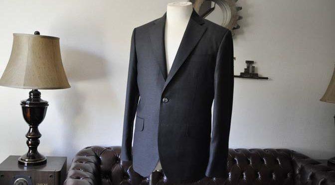 お客様のスーツの紹介- Canonico チャコールグレースーツ-