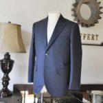 お客様のスーツの紹介-Biellesi 無地ネイビー-
