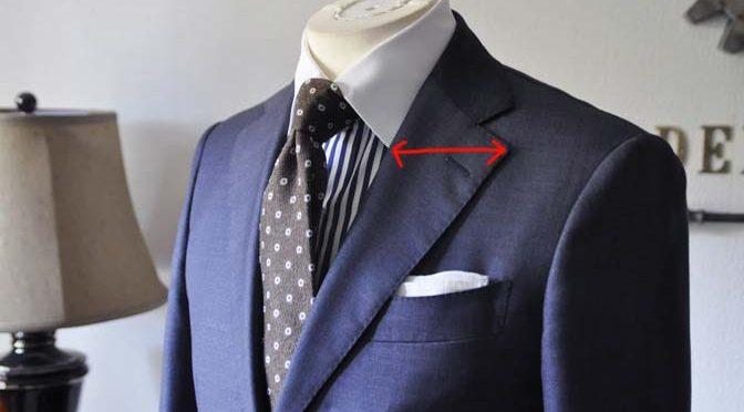 ネクタイとラペルの幅について