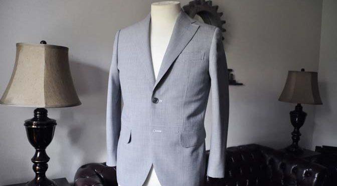 お客様のスーツの紹介- DARROWDALE千鳥格子スーツ-