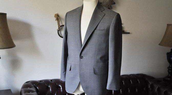 お客様のスーツの紹介- Biellesi グレーウィンドペン-