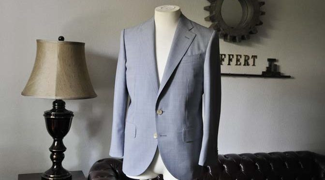 お客様のスーツの紹介- Biellesi 千鳥格子スーツ-