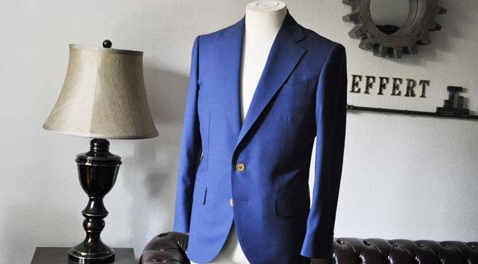 お客様のスーツの紹介- DARROW DALE ネイビーチェック-