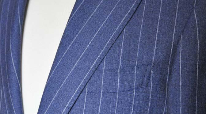 お客様のスーツの紹介- Canonico ネイビーストライプスーツ-