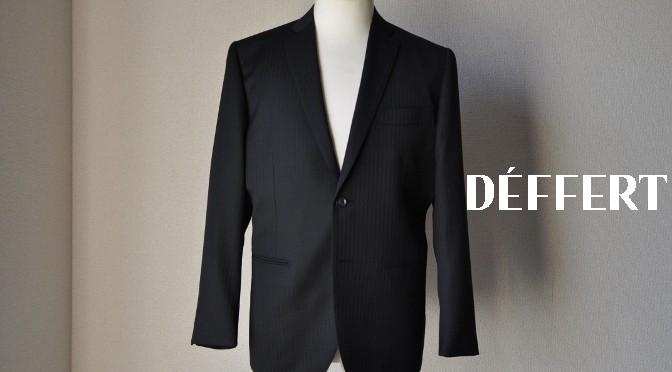 お客様のスーツの紹介-BIELLESI ブラックストライプ-