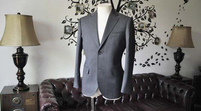 お客様のスーツの紹介-Biellesiグレースーツ-