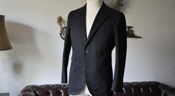 お客様のスーツの紹介- Larusmiani ブラックコットンスーツ-