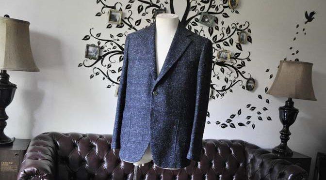 お客様のジャケットの紹介-FERLA ネイビージャケット-