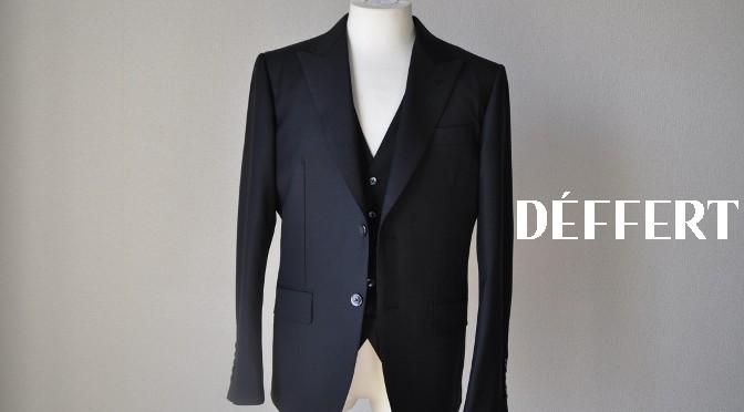 お客様のスーツの紹介-CANONICO ブラックスリーピース-