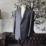 お客様のスーツの紹介-Collezioni Biellesiグレーストライプスーツ-