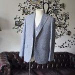 お客様のジャケット/ベストの紹介-FERLA ホワイト/ネイビーリネン-