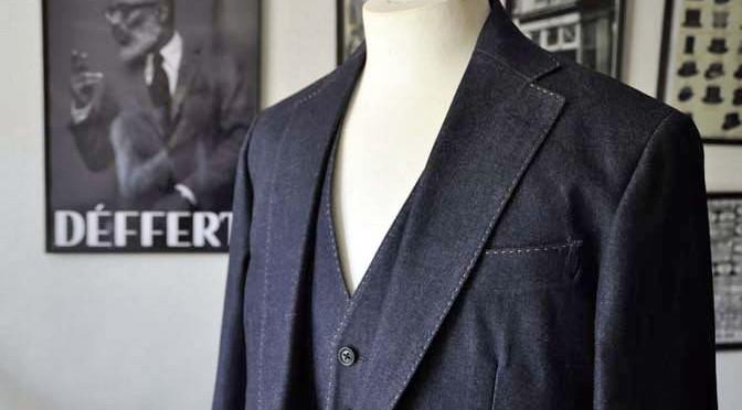 お客様のウエディング衣装の紹介-デニム スリーピース-