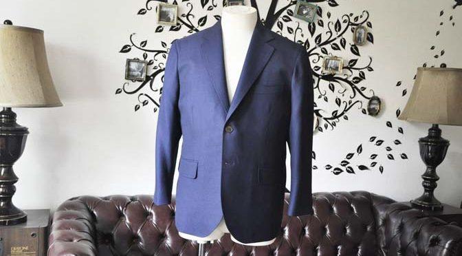 お客様のジャケットの紹介-CANONICOネイビーホップサックジャケット-