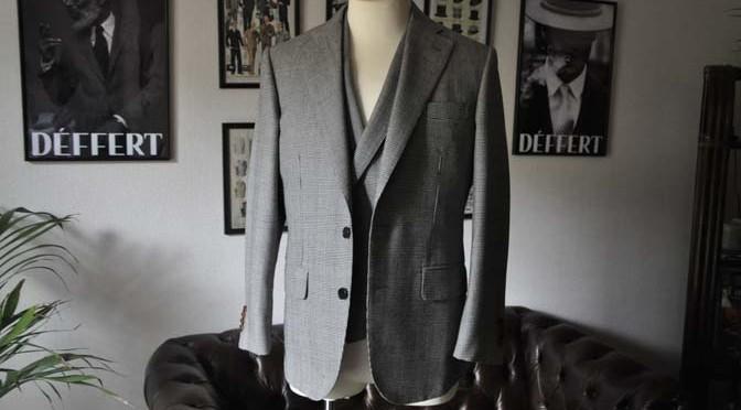 お客様のスーツの紹介- DUGDALE グレンチェック ダブルベスト-