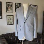 お客様のスーツの紹介- Canonico ライトグレーフランネルスーツ-