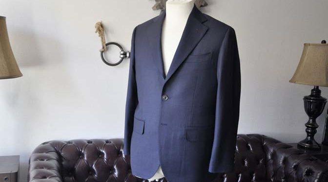お客様のスーツの紹介- Biellesi ネイビーバーズアイ-
