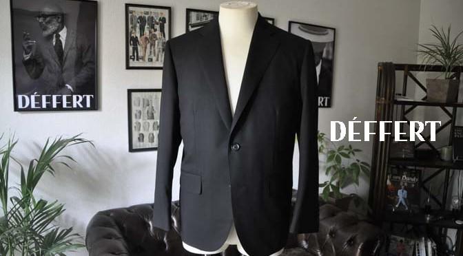 お客様のスーツの紹介-CANONICO ブラックヘリンボーン-