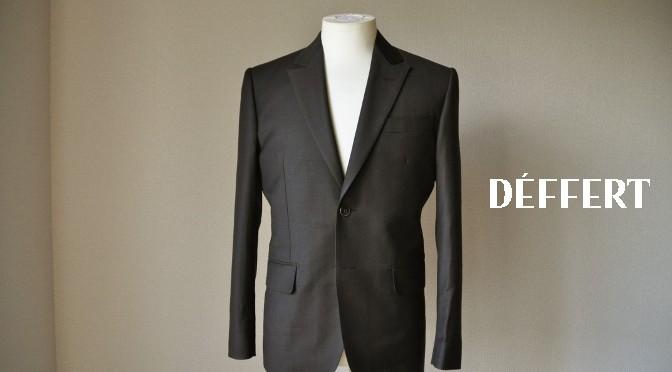 お客様のスーツの紹介-CANONICO 無地ブラウンスーツ-