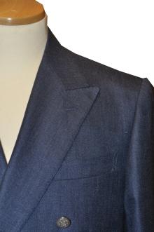 blog_import_520b4e3e5f965 オーダースーツ-CANONICO Silk30%,Linen20%,Wool50%ブライトネイビーのダブルスーツ