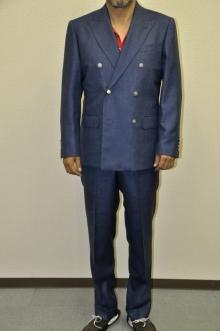 blog_import_520b4e58801ad オーダースーツ-CANONICO Silk30%,Linen20%,Wool50%ブライトネイビーのダブルスーツ