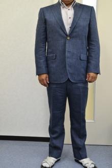 blog_import_520b4edb5d6a9 オーダースーツ-Linen85%、Wool15%の明るめのネイビースーツ