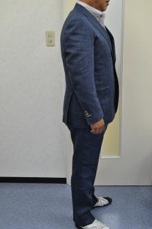 blog_import_520b4ee010358 オーダースーツ-Linen85%、Wool15%の明るめのネイビースーツ