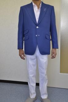 blog_import_520b4f7a62244 オーダージャケット-CANONICOのブルージャケットと白棉パンツ